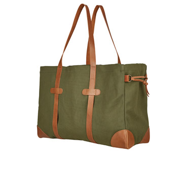 XL Canvas Shopper mit Leder