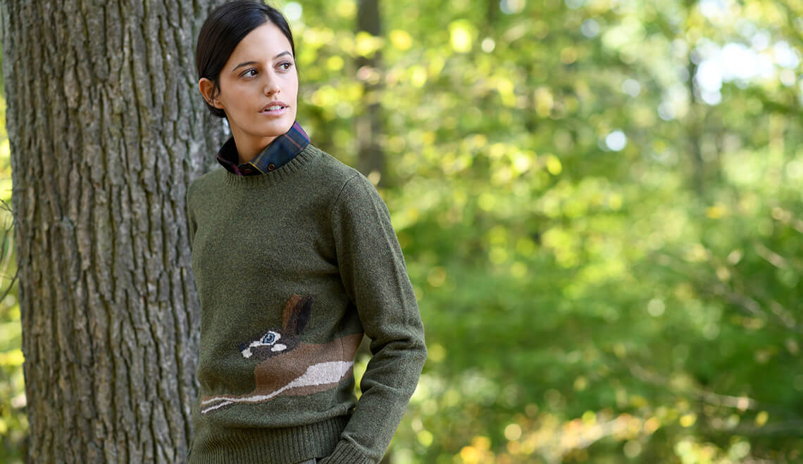 Merino Lambswool Pullover mit Hase