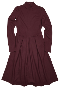 Kleid Wolljersey, bordeaux
