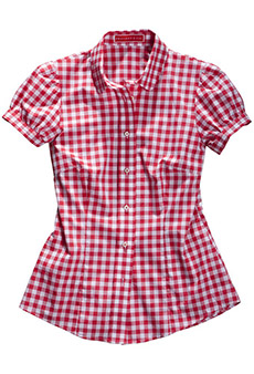 Bluse Vichy, rot