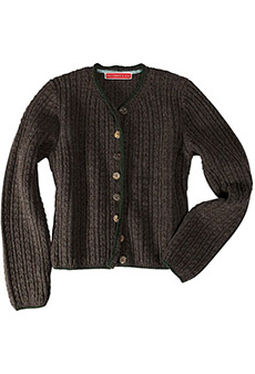 Strickjacke Lambswool, braun