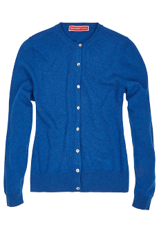 Cardigan Lambswool, Royal Blue