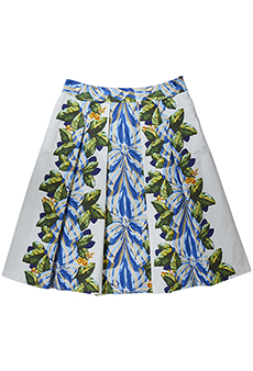 Skirt bows and leaves, blue