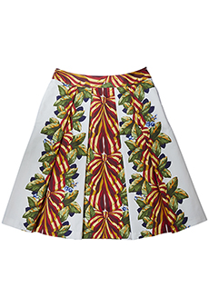 Skirt bows and leaves, red