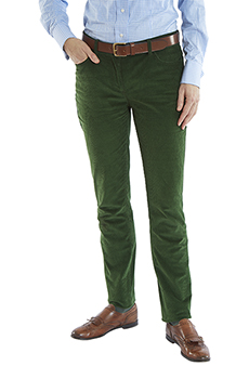 Corduroy trousers, green