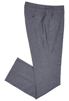 Trousers flannel, grey
