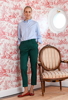 Chinos, forest-green
