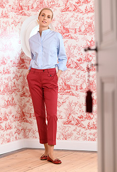Chinos, red