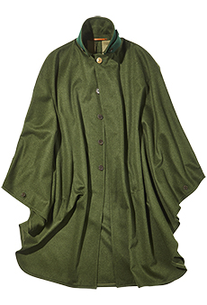 Field cape loden, green