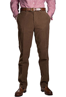 Heavy moleskin trousers, brown