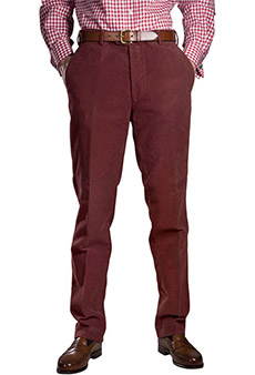 Heavy moleskin trousers , red
