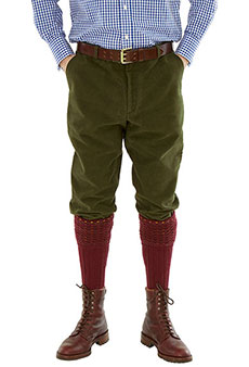 Shooting breeks moleskin, olive