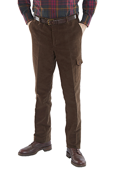 Field trousers moleskin, brown