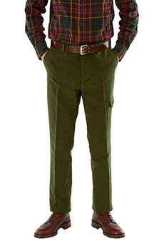 Field trousers moleskin, olive
