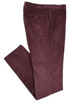 Trousers corduroy, berry