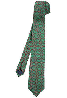 Tie wool, green/red