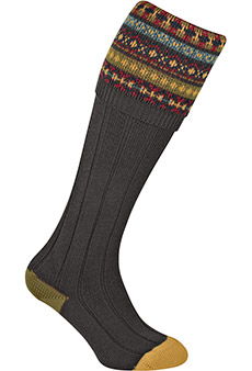 Gunsocks jacquard, brown