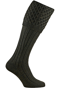 Gunsocks cable stitch, hunter