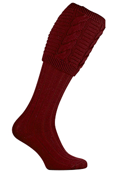 Gunsocks burgundy, cable