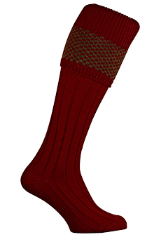 Gunsocks, olive/burgundy