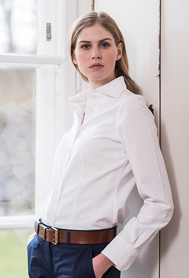 bluse waffelpiqu wei online kaufen damen franken cie. Black Bedroom Furniture Sets. Home Design Ideas