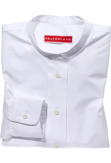 Shirt stand up collar, white - shop online   Women   FRANKEN   Cie. 2c4dfb8a3a