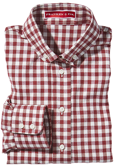 Bluse Flanell Vichykaro, rot/wollweiß