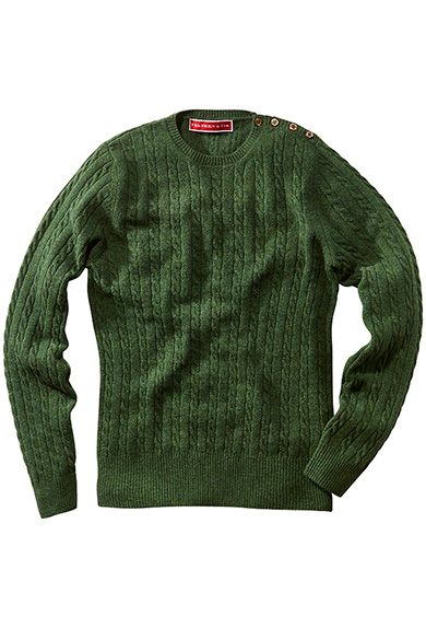 Pullover Lambswool, pinie