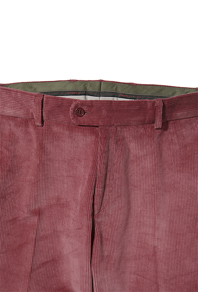 Cordhose, himbeer